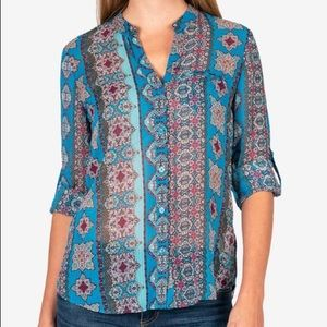 KUT FROM THE KLOTH SHEER FLORAL TOP XS